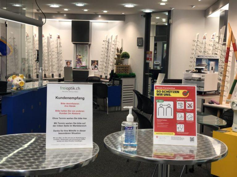 Frei Augen-Optik   KMU Angebot Baselland, #corona
